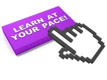 Lär på din egen hastighet Fotografering för Bildbyråer
