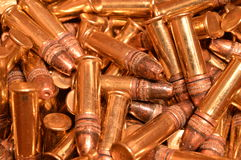 .22 LR rimfire ammunition Royalty Free Stock Images