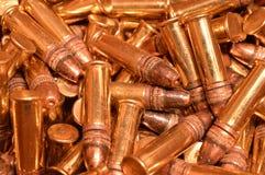 22 LR rimfire munitie Royalty-vrije Stock Afbeeldingen