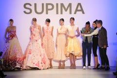 (LR) Supima-Design-Wettbewerbs-Finalist Jeffrey Taylor auf Stadium während des Supima-Design-Wettbewerbs 2016 stockfotografie
