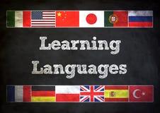 Lära språk Arkivbild