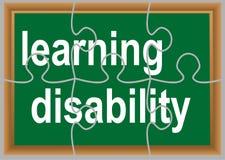 Lärande handikapp Arkivbild