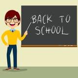 Lärare Character Chalkboard Royaltyfri Bild