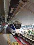 LRT στο νέο σταθμό Subang USJ7, Μαλαισία Στοκ φωτογραφία με δικαίωμα ελεύθερης χρήσης