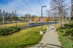 LRT - Edmonton transportsystem Royaltyfri Fotografi