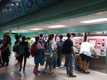 LRT staci bilet Zdjęcia Stock