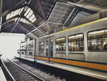 lrt station of philippones busy street Stock Photos