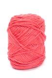 Lãs cor-de-rosa do fio para fazer malha Fotos de Stock Royalty Free