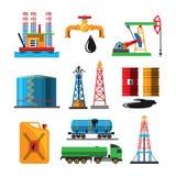 Öls-Extraktiontransport-Vektorillustration Lizenzfreie Stockbilder