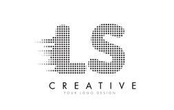 LS L s-Buchstabe-Logo mit schwarzen Flecken und Spuren stock abbildung