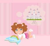 Liten flickaläsningsagor Royaltyfri Fotografi