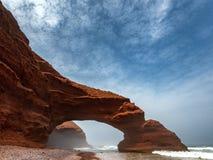 Lös strand Legzira Fotografering för Bildbyråer