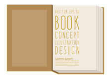 Löschen Sie erste Seite innerhalb der Buchschablone, die auf gelbem surfac steht Lizenzfreie Stockbilder