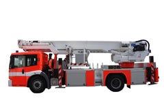 Löschfahrzeug-Strichleiter Stockbild