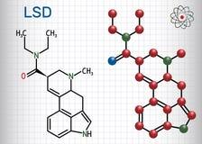 LSD do diethylamide de ácido Lysergic É uma droga alucinógeno S ilustração stock