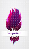 Lsd fire. Modern fresh floral fire background Royalty Free Stock Photos