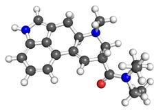 LSD molecule Stock Image