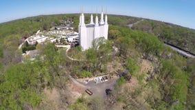 LSD Temple Washington DC aerial video Stock Photos