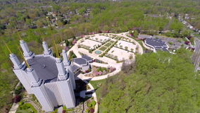 LSD Temple Washington DC aerial video Stock Image