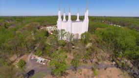 LSD Temple Washington DC aerial video Stock Photography