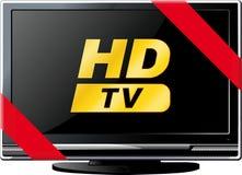 Lsd TV con una cinta roja Imagen de archivo