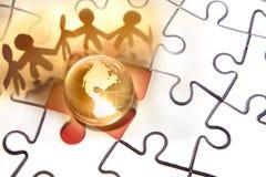 Lösen der Probleme der Welt Stockfoto
