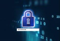 Lösenordfält på teknologibakgrundsillustration Royaltyfria Bilder