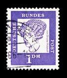 Lshoff do ¼ de Baronesa Annette von Droste-HÃ (1797-1848), poeta, distinto serie dos alemães, cerca de 1961 imagem de stock