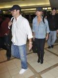 LSinger Nick Lachey com Vanessa Manillo RELAXADO imagem de stock