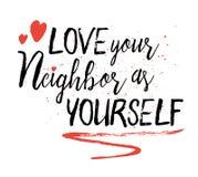 Älska din granne som dig Arkivfoton