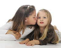 älska systrar Royaltyfria Foton