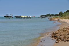 Lske Huron Shoreline. Shore of Lake Huron west of Port Austin, Michigan Royalty Free Stock Photos