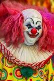 Läskig clowndockaframsida Arkivbilder