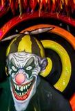 Läskig clowndockaframsida Royaltyfri Bild