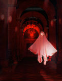 Läskig korridor med spöken Royaltyfri Foto