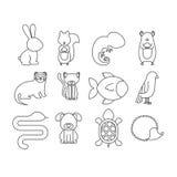 Älsklings- tecknad filmdesign för djur Royaltyfri Foto
