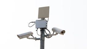 Lsolate камеры слежения или CCTV наблюдения Стоковое фото RF