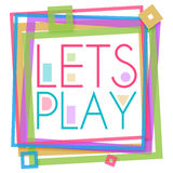 Lässt Spiel-buntes Rahmen-Quadrat Lizenzfreies Stockbild
