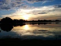 LSU Lakes. Sunset Royalty Free Stock Photo