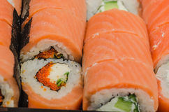 LSushi, food, rice, product, cooked, salmon, seafood, fish, Japanese, raw, roll Royalty Free Stock Photography