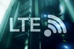 LTE, 5g draadloos Internet-technologieconcept Serverruimte vector illustratie