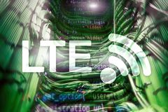 LTE, 5g wireless internet technology concept. LTE, 5g wireless internet technology concept stock photography