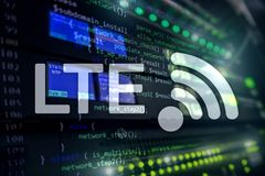 LTE, 5g wireless internet technology concept.  stock photography