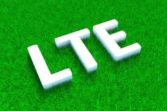 LTE green grass meadow. Background 3d illustration Royalty Free Stock Photos