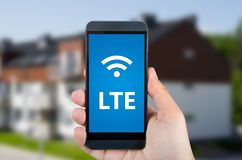 LTE high speed mobile internet connection Stock Image