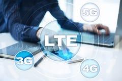 LTE-nätverk mobilt begrepp för internet 5G och teknologi Royaltyfri Fotografi