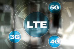 LTE-nätverk mobilt begrepp för internet 5G och teknologi Royaltyfria Foton