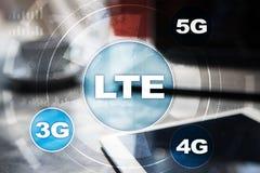 LTE-nätverk mobilt begrepp för internet 5G och teknologi Arkivfoto