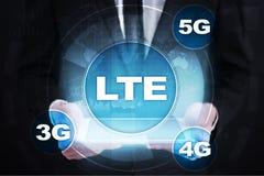 LTE-nätverk mobilt begrepp för internet 5G och teknologi Arkivfoton