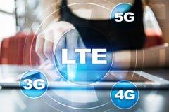 LTE-nätverk mobilt begrepp för internet 5G och teknologi Arkivbilder